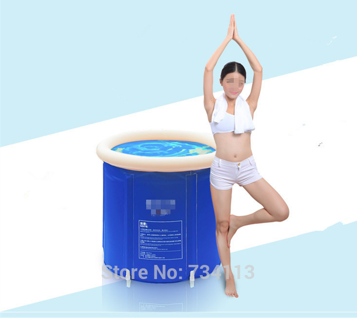 tub Portable inflatable bath Folding Tub Bath Bucket Adult Bathtub ...