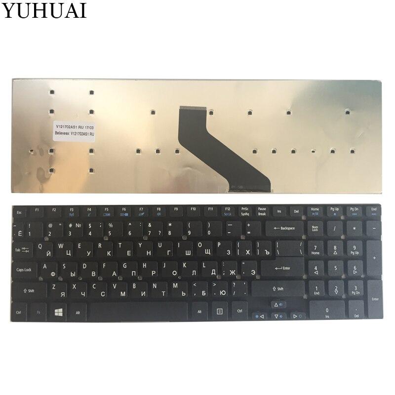 Teclado ruso para Acer Aspire E5-511 E5-511-P9Y3 E5-511G E5-571G E1-511P E5-521G E5-571PG E5-571 ES1-512 ES1-711 ES1-711G RU
