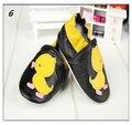 Recién Nacido Estilos Encantadores de Primer Caminante Zapatos de Bebé de Cuero Genuinos Zapatos de Cuero de Vaca