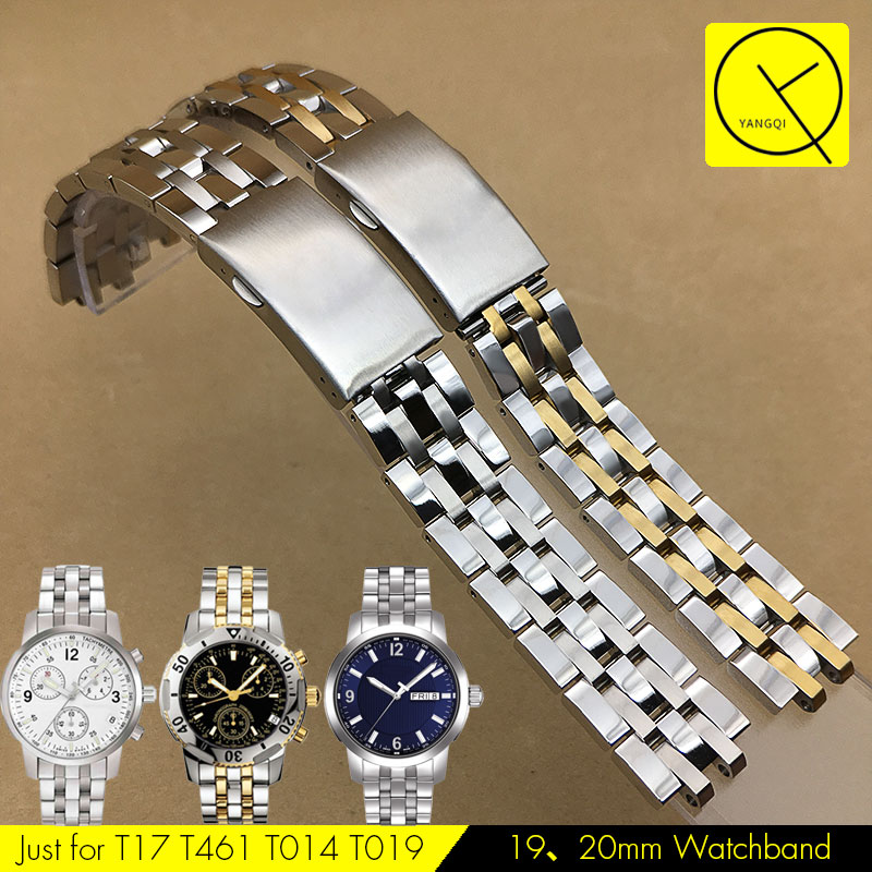 Stainless Steel Watchband for Tissot Watch Strap Band 1853 for PRC200 t17 t055 t067 t014 19mm 20mm Silver Watchband Man +Tools