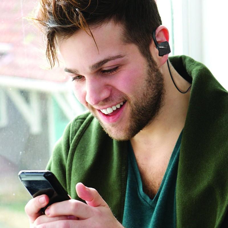 Bluetooth Headphones headset HD Stereo wireless sports headsets Handsfree sweatproof earphone voice control (2)