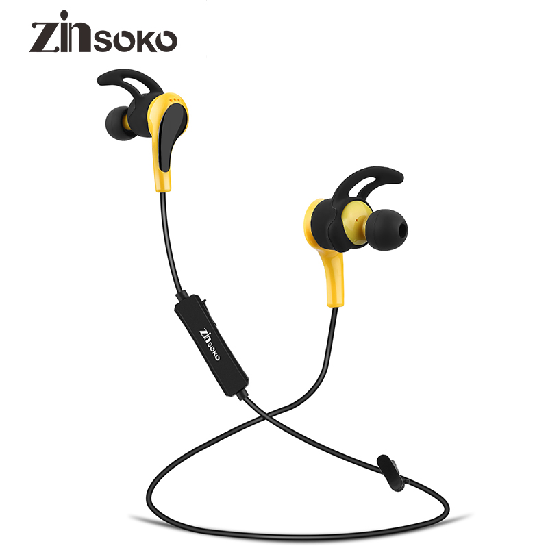 Zinsoko B019 Bluetooth 4.1 Sport Earphone Headphone Noise Cancelling HIFI Stereo Bass Sound Wireless Headset With Microphone plufy bluetooth earphone headphone wireless speaker sport headphone bass stereo headset noise cancelling for iphone xiaomi l29
