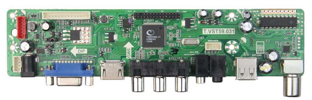 T.VST59.03 LCD/LED Controller Driver Board(TV+HDMI+VGA+CVBS+USB) For B101EW05 V.3 PQ101WX01 LVDS Reuse Laptop 1280x800