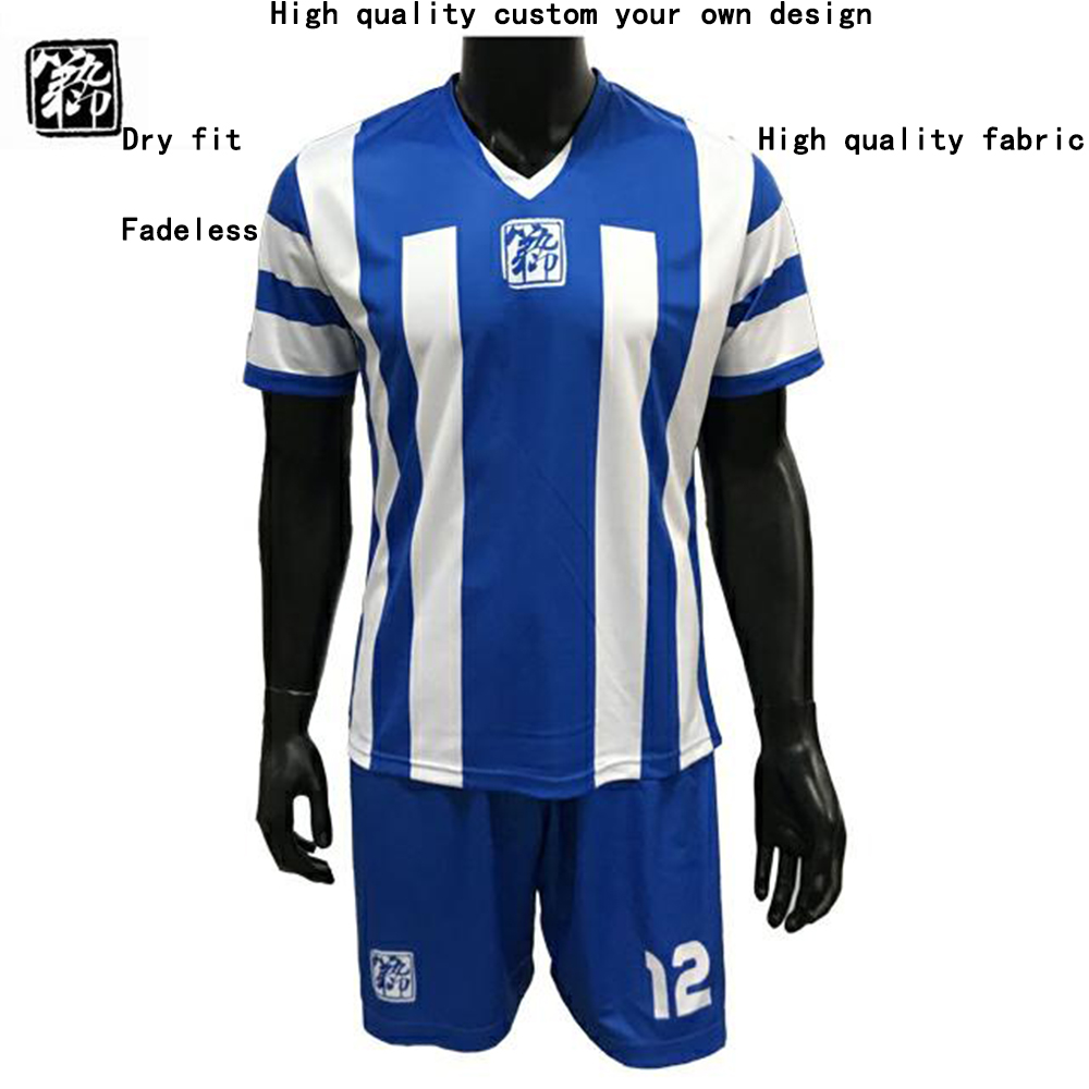 Men Soccer Jerseys 2018 Football Uniform Shirt Training Set Dijiuyin-003