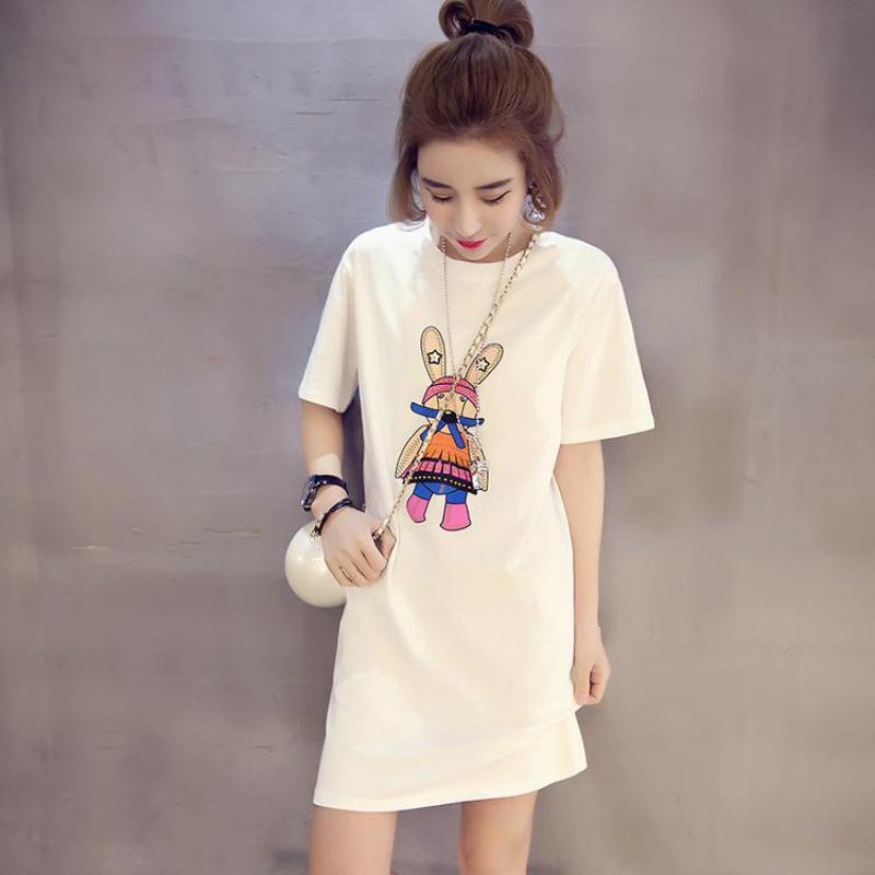 624797223e Summer New Korean Women Loose T-shirt Harajuku Cartoon Printing ...