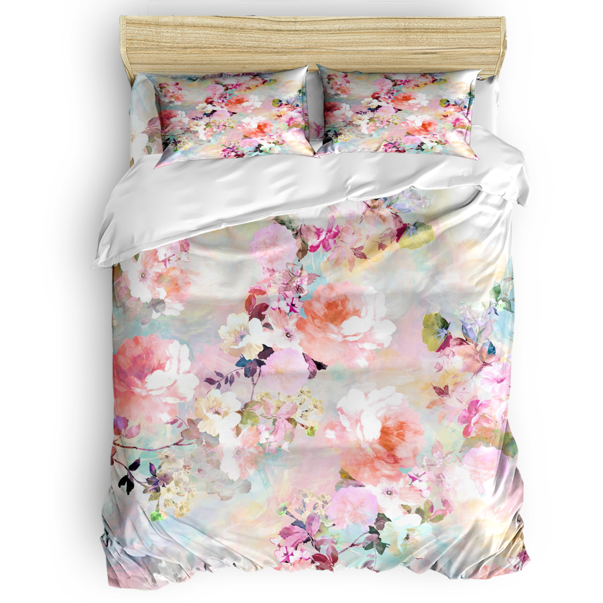 Love Of A Flower Duvet Cover 3D Cotton Duvet Cover King Size Queen Size Quilt Cover Set Bedclothes Comforter Single Bedding Sets
