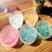 Mermaid transparent crystal mud slime Slim material snowflake mud clay stamp mud somme mud