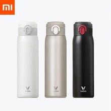 Xiaomi mijia viomi copo de vácuo aço inoxidável 24 horas garrafa térmica garrafa água portátil inteligente 460 ml para a família