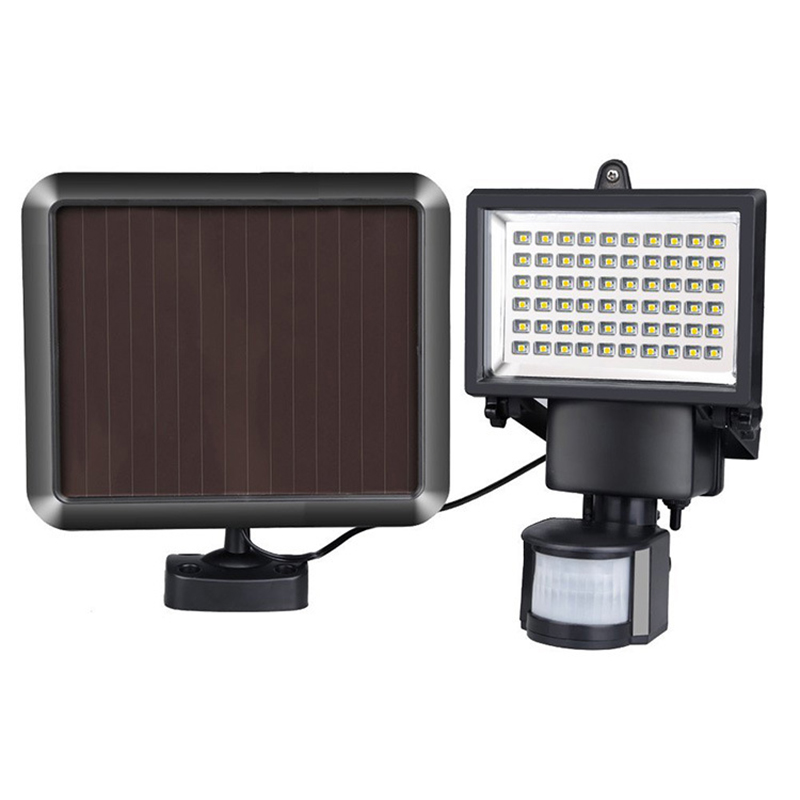 Led flood light outdoor building wall projection lamp 60LED waterproof infrared sensor led solar