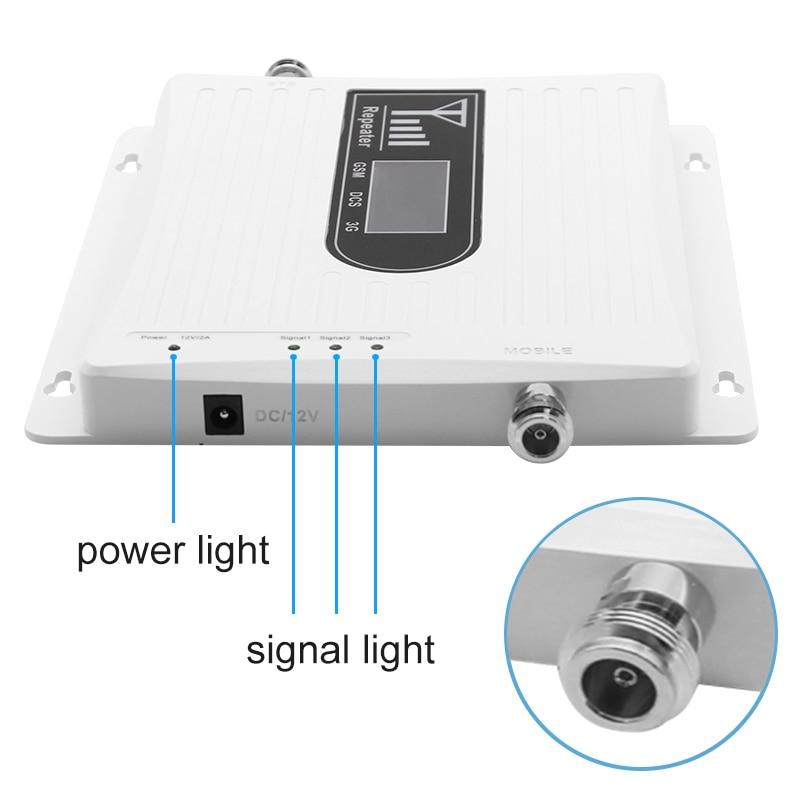 Signal d'appoint à trois bandes pour téléphone portable 4g LTE 1800 mhz 900 mhz 2100 mhz dcs gsm wcdma réseau de communication léger 70dB 2 pièces # - 3