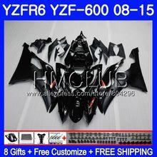 Корпус для YAMAHA YZF-600 YZFR6 08 09 10 11 YZF600 103HM10 YZF 600 R 6 YZF R6 YZF-R6 завод черный 2008 2009 2010 2011 обтекатель комплект