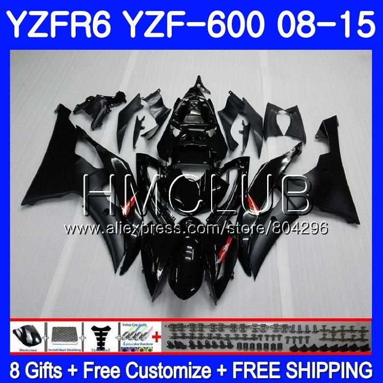 Corpo Per YAMAHA YZF-600 YZFR6 08 09 10 11 YZF600 103HM10 YZF 600 R 6 YZF R6 YZF-R6 di Fabbrica nero 2008 2009 2010 2011 Kit Carenatura
