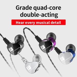 Image 4 - Genuine QKZ CK9 Earphones Dual Driver With Mic gaming headset mp3 DJ Field Headset audifonos fone de ouvido sem fio auriculares