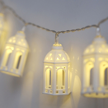 1.5M 10pcs LED Christmas Tree House Eid Mubarak Fairy Light String wedding natal Garland New Year Christmas decorations for home