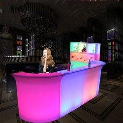Luminoso Bancone da Bar LED impermeabile ricaricabile Rundbar LED Bartresen mobili di Colore Che Cambia Club Cameriere bar della discoteca del partito