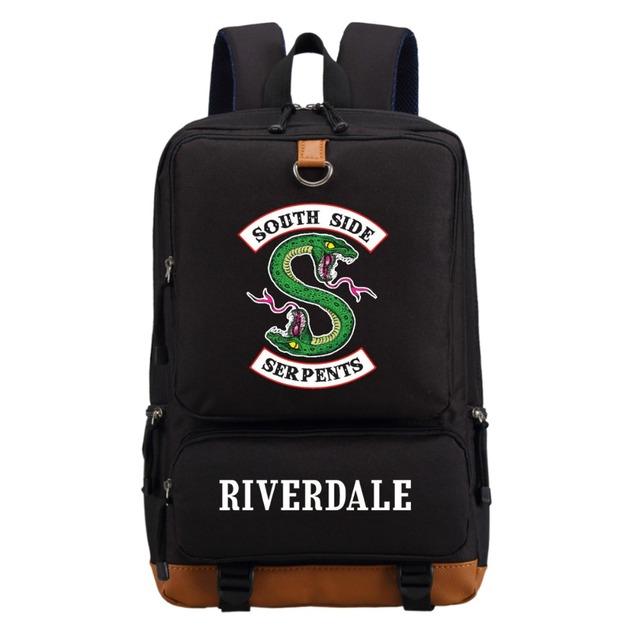 WISHOT Riverdale South Side Serpents Backpack Shoulder travel School Bag Bookbag for teenagers