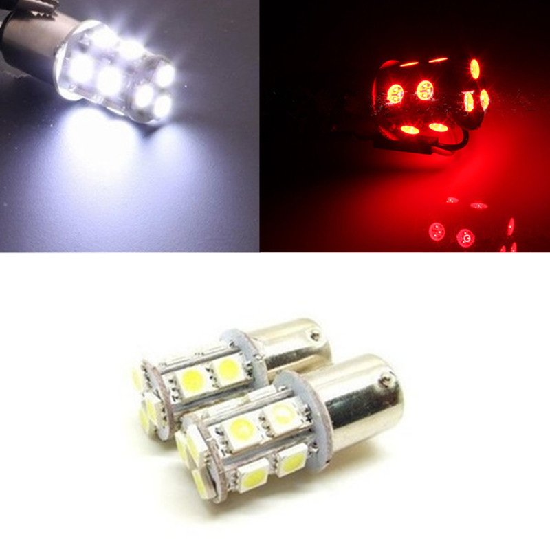 Hot sale 1156 BA15S P21W 13 SMD 5050 LED Brake Parking Rear Tail Lamps Auto Led Car Bulb 12V 13SMD Turn Signal Light Bulb
