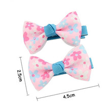 300pcs/lot  Grosgrain Ribbon Flower Hair Bow Clips