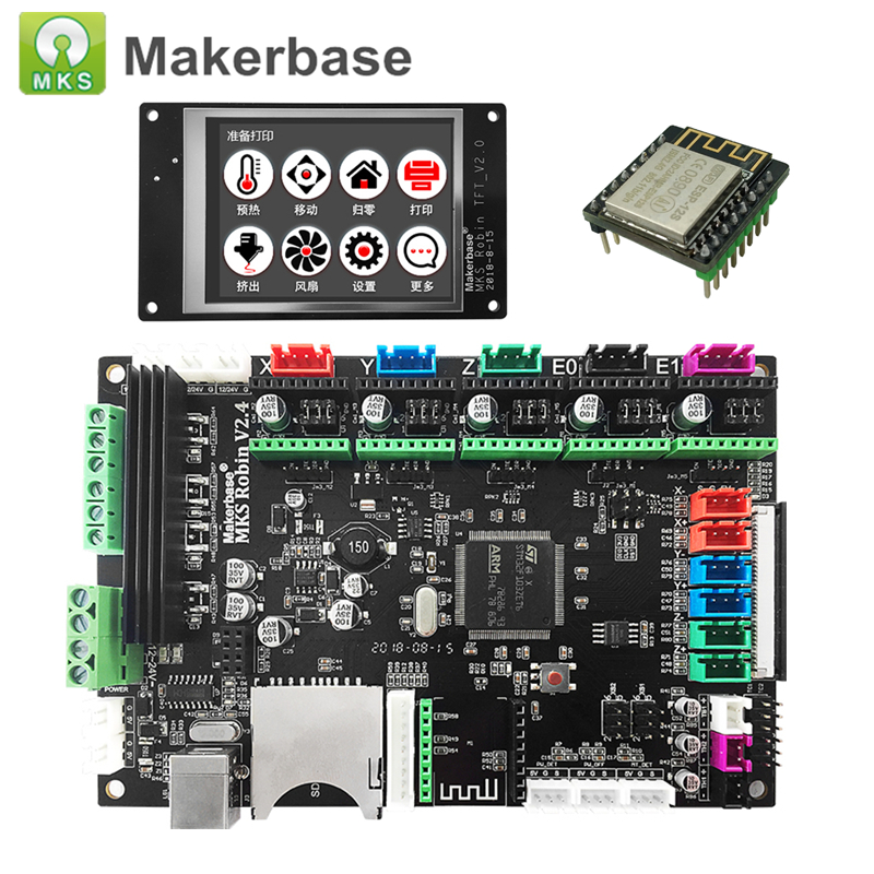 3D Printer Parts Control Board MKS Robin V2 4 with TFT32 Touch Display TFT WiFi Module