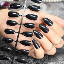 Stilettos Sharp False Nail Tip Pure Solid Black Y Art Acrylic Artificial Stiletto Fake Nails