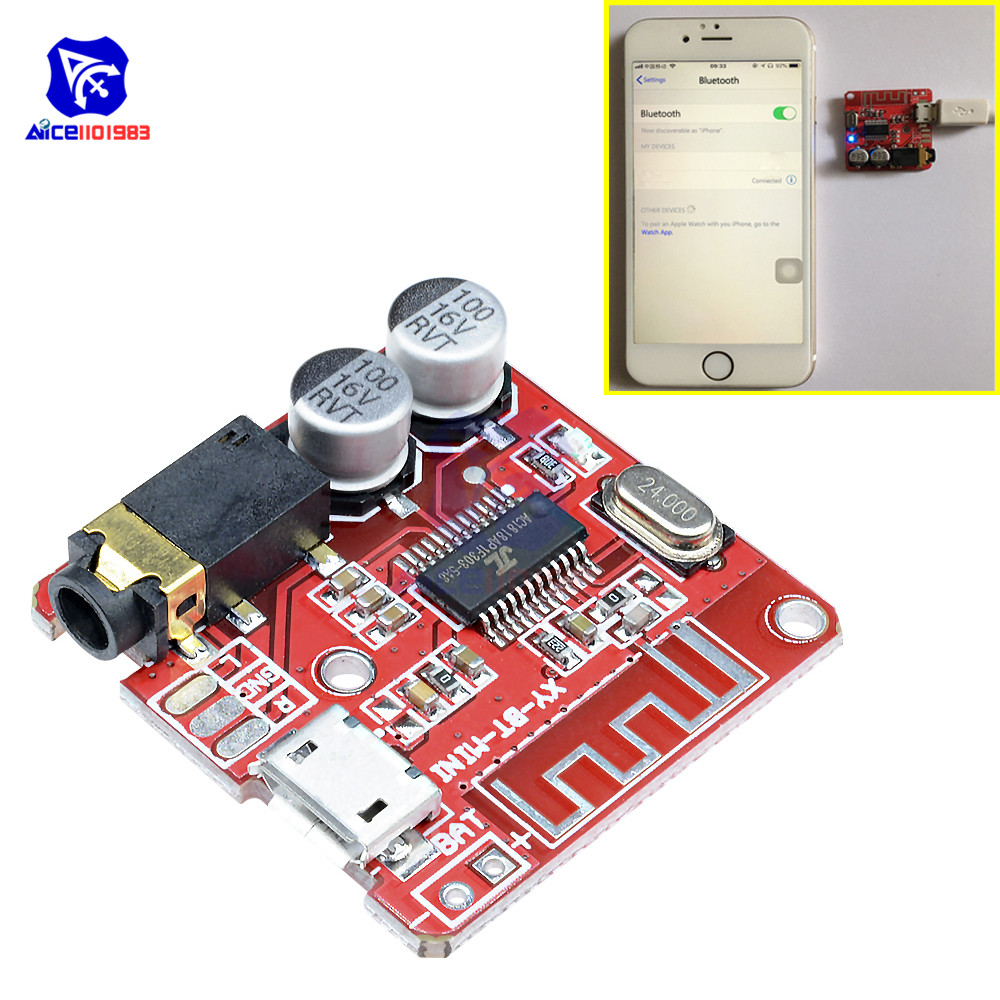 Micro USB Mini <font><b>MP3</b></font> <font><b>Bluetooth</b></font> 4.1 Car Speaker Amplifier Board Module Lossless Decoder Stereo Output Circuit Board Module 3.7V 5V image