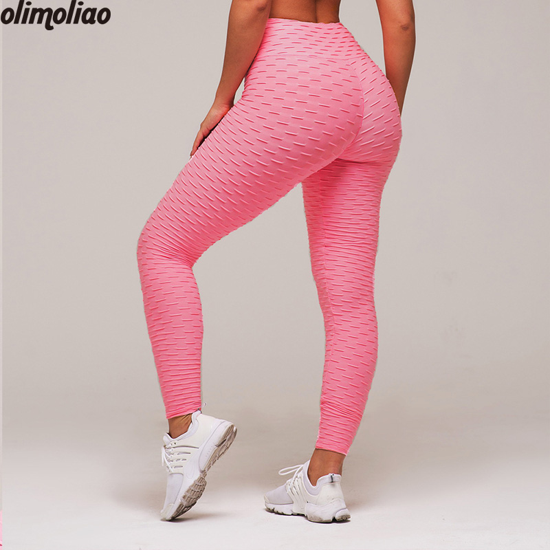 2018 Yoga Pants Black Sport Leggings High Waist Push Up Sexy Gym Running Workout Sport Fitness Leggings For Women