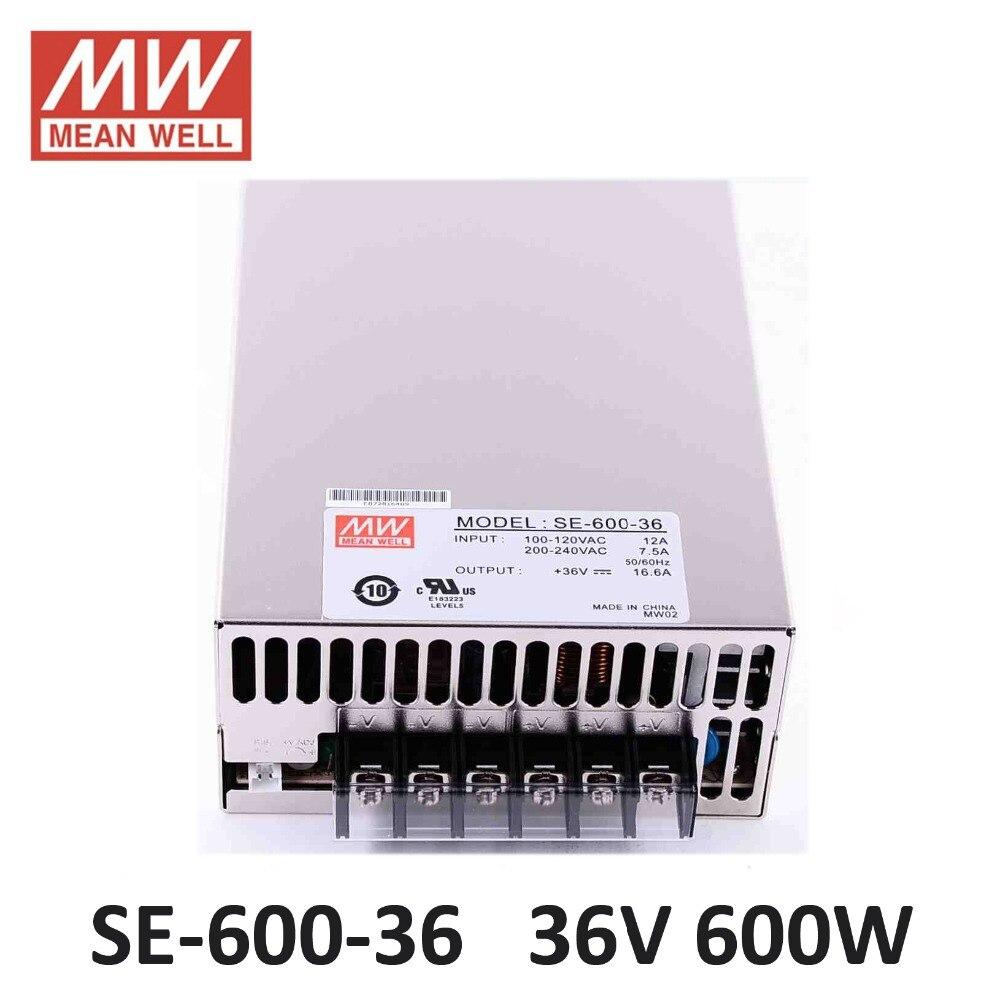 Original MEANWELL SE 600 36 600W 16 6A 36V Switching Power Supply AC110V 220V to DC