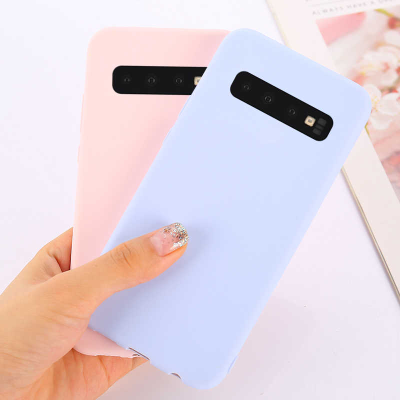 Soft TPU Candy Color Phone Case For Samsung Galaxy S10 Lite A7 A9 A6 A8 Plus J4 J6 J8 2018 S6 S7 Edge S8 S9 Plus J3 J5 J7 2017
