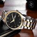 2017 marca de lujo XIAOYA los mejores relojes de cuarzo relogio feminino reloj de los hombres de Negocios de ocio de moda reloj de Cuero relojes