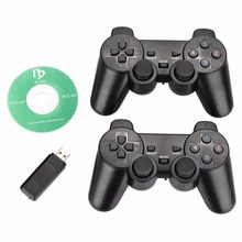 Gasky New 2.4Ghz wireless computer game controller PC gamepad vibration dual joysticks for Windows XP Win 7 Win 8 Win 10 2pcs