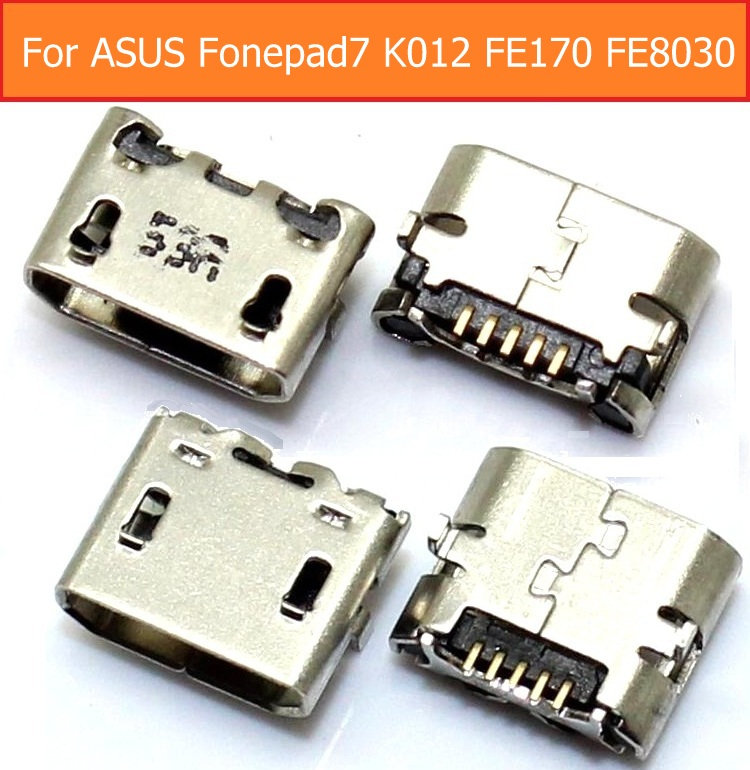 100% Genuine USB charger jack socket For <font><b>ASUS</b></font> Fonepad 7 <font><b>ASUS</b></font> <font><b>K012</b></font> FE170 FE8030 Date charging dock jack slot 2 version to choose image