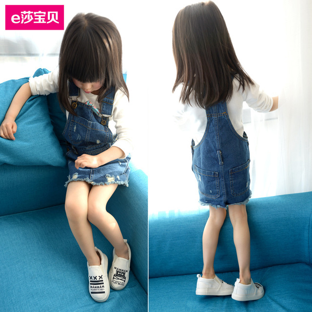 [Bosudhsou.] #D-11 Baby Girls Kids Denim Overalls Skirts Braces Skirt 2-6YUK suspender skirt overalls Children Clothing