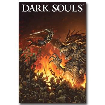 Шелковый Плакат гобелен Dark Souls вариант 2