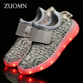Girls Shoes Rodinha LED Kids Light Up Shoes for Children Boys Glowing Sneakers Led USB Charge zapatillas led GH393