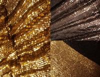 Cool 100x90cm Bling Bling Chunky Glitter Metal Mesh Fabric Metallic Cloth Metal Sequin Sequined Fabric Curtain