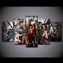 Anime Group Photo 5 Pieces Canvas Painting Artwork Wall Art Picture Home Decoration Living Room