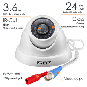 Image 3 - ZOSI 1080P HD TVI 2.0MP CCTV Dome Camera Home Security System 65ft Night Vision Waterproof for 1080P HD TVI DVR Systems