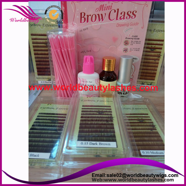 China golden supplier for eyebrow extension kits wholesale price Professional make up kits