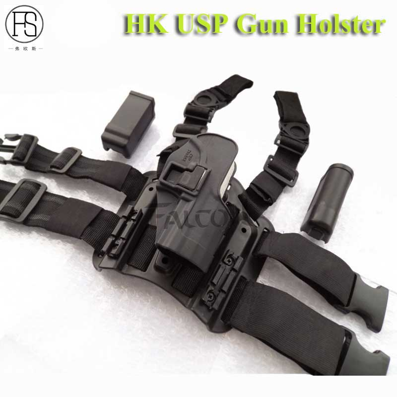 High Quality HK USP Gun Holster Compact Type Tactical Leg Holster Shooting Airsoft Right Handed Pistol Hunting Thigh Holster