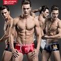 4 pçs/lote novo Boxer Homme de cuecas Boxer de seda Calecon Homme de homens Calzoncillos Hombre Lycra Boxer Ropa Interior