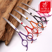 Professional Colorful 6 5 Inch Pet Dog Small Animal Grooming Hair Cut Curved Scissors