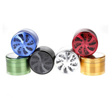 free shipping Dry Herb Tobacco Grinder 4 Layers 63mm Metal Zinc Alloy Gunblack Pipes For Smoking Weed Spice