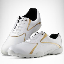 цена на New PGM Golf Shoes Women Golf Shoes Light Weight Leisure Sports Sneakers Waterproof Breathable Ladies Golf Shoes 2 Colors