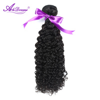 Alidoremi מלזי קינקי מתולתל חבילות 100% שיער אדם אריגת צבע טבעי שיער הלא רמי 1 Piece משלוח חינם