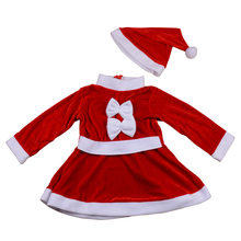 baby santa claus outfit costume christmas boy girl winter clothes roupa papai noel infantil Newborn Girls Dress Kids Rompers(China)