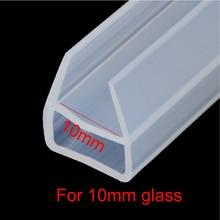 лучшая цена 1 meter u shape shower door silicone rubber seal strip weatherstrip for 10mm glass