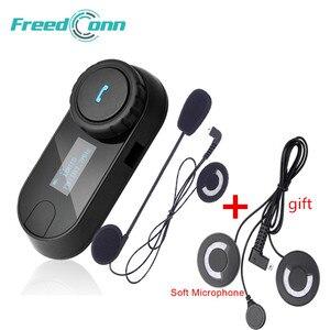 FreedConn TCOM-SC BT переговорные Bluetooth мотоциклетный шлем гарнитура ЖК-экран fm-радио, мягкий микрофон для шлема