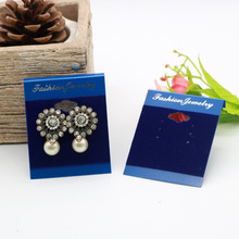 100pcs/lot Kraft Velvet Jewelry Card for 3 Pairs Earring Set Multi Color Vintage Classic Hang Tag Displays