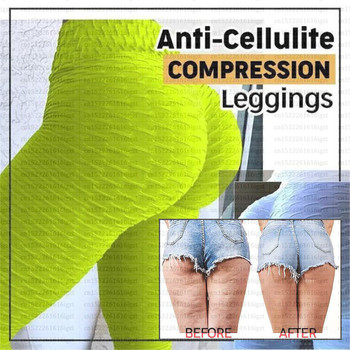 Anti-Cellulite Compression Leggings - Fat Burning Cellulite Oppressing Mesh  Design For Weight Loss - Yoga Compression Leggings  1