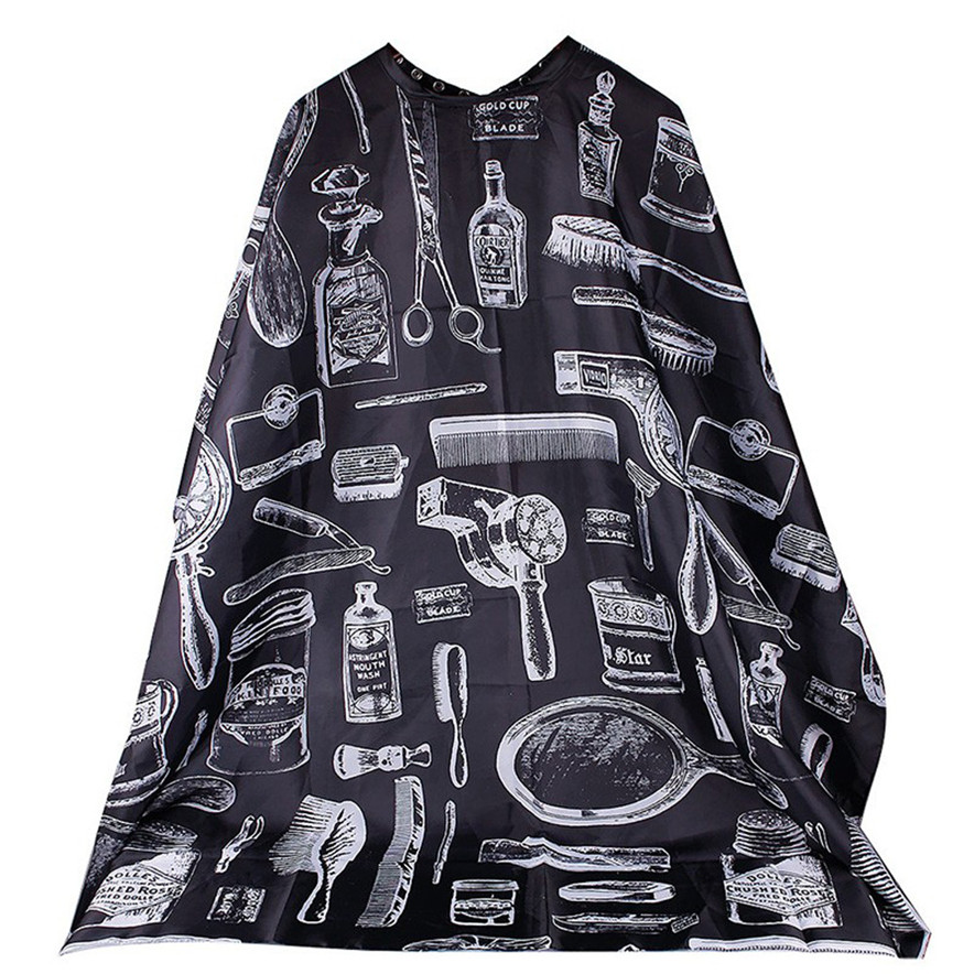 black color Cutting Hair Waterproof Cloth Salon Barber Gown Cape Hairdressing Hairdresser best seller#30 ...